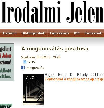 tejmozi irodalmi jelen
