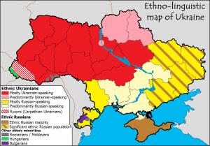Ukrajna etnikai-nyelvi térképe