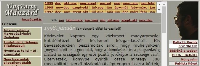 bdk napló 1998